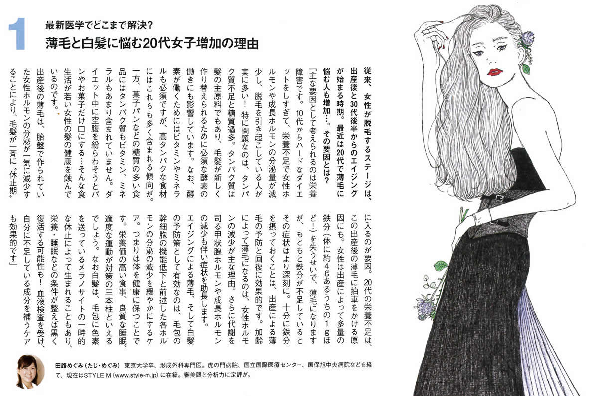 NUMERO TOKYO9月号 白髪・薄毛&抜け毛に、今こそ向き合う!で育毛外来が紹介されました。