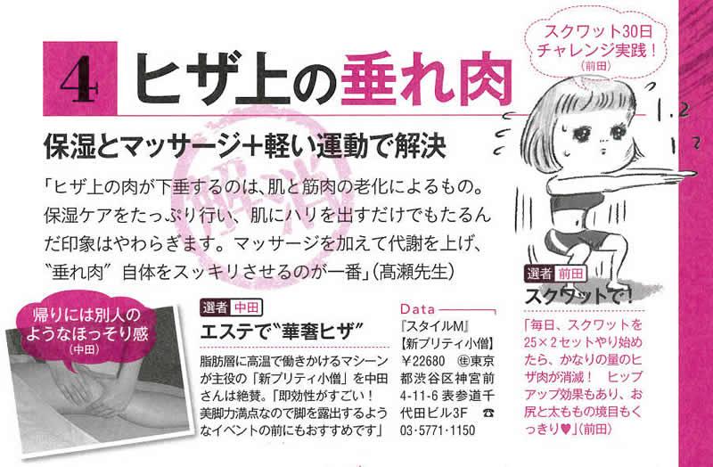 「VOCE 12月号」で紹介されました「内緒のお悩みコツコツ美容」で新プリティ小僧が紹介されました